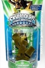 Skylanders Variant Flocked Stump Smash Figure.