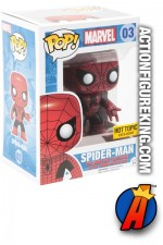 Funko Pop! Marvel Hot Topic Red and Black variant SPIDER-MAN Bobblehead Figure.