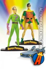 Super Friends Robin and the Riddler with mini Batmobile from DC Direct.