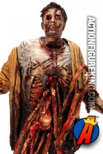 A detaield view of this Series 6 Walking Dead Bungie Guts Zombie action figure from McFarlane Toys.