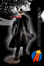 13 inch DC Direct fully articulated The Spirit action figure with authentic fabric uniform.