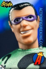 Mego-style Retro-Action Riddler action figure with authentic fabric uniform.