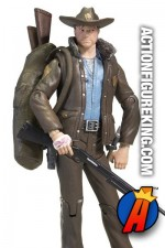Deatailed view of this Walking Dead Rick Grimes action figure.