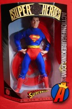 A packaged sample of this Hasbro 9-inch DC Super-Heroes Silver Age Superman figure.