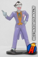 Front view of this 2 inch Batman Animated die-cast metal Joker figure.