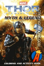 Thor the Darkworld Coloring and Activity Book front cover artwork.