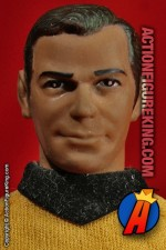 Mego Star Trek 8 inch Captain Kirk action figure with authentic cloth uniform.
