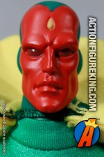 Marvel Famous Cover Series 8 inch Vision action figure with removable outfit from Toybiz.