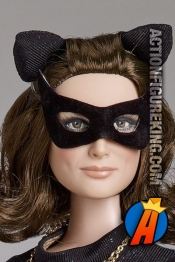 Tonner 16-Inch Julie Newmar as Catwoman dressed figure.