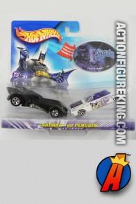 Hot Wheels Batman vs. Penguin die-cast vehicles.