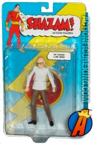 A packaged sample of these Doctor Sivana and Mr. Mind action figure from DC Direct.