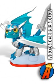 Full view of this Skylanders Trap Team first edition Blades figure.