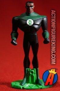 From the JLU animated series comes this die-cast John Stewart GL figure.