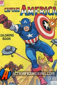 1966 Captain America coloring book from Whitman.