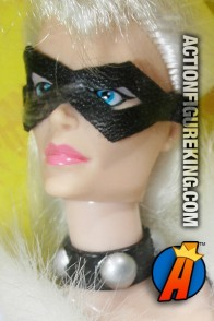 Articulated sixth-scale Black Cat action figure with authentic fabric outifut from Toybiz.