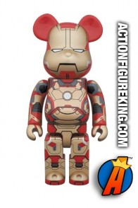 8 inch tall oversized Medicom Bearbrick Iron Man 3 Mark 42 action figure.