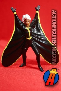 X-Men STORM PVC Figure in black outfit with yellow trim circa 1991.