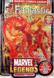 Marvel Legends Series 2 Human Torch figure with emblem.