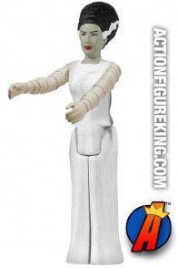 Full view of this ReAction retro-style Bride of Frankenstein action figure.
