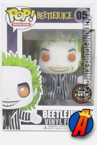Funko Pop! Movies variant Beetlejuice chase glow-in-the-dark vinyl figure.