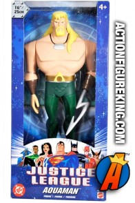 Justice League animated series 10-inch scale Aquaman roto figure from Mattel.