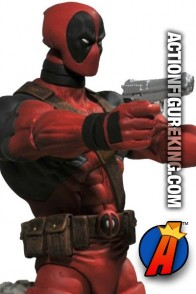 This Marvel Select 7-inch Deadpool action fgure has 16-points of articulation.