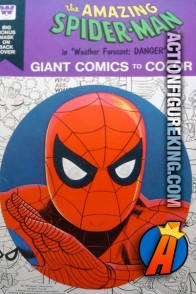 Spider-Man Giant Comics to Color coloring book from Whitman.