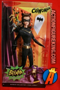 Batman Classic TV Series Julie Newmar type Barbie as Catwoman figure.