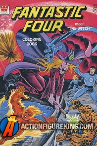 The Fantastic Four Meet The Witch 1977 coloring book from Whitman.