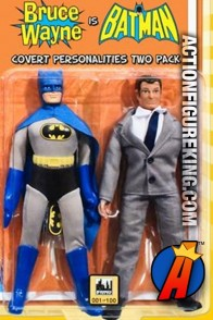DC Superheroes Retro Cloth 8-Inch Figures Two-Pack of Batman and Bruce Wayne from Figures Toy Company.