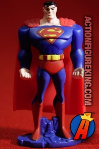 This Superman die-cast figure from Mattel is made from metal with plastic accents.
