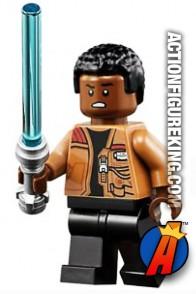 LEGO STAR WARS FINN minifigure with Lightsaber.