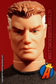 Custom sixth-scale Mister Fantastic action figure with fabric uniform.