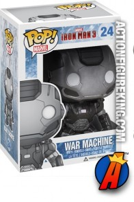 A packaged sample of this Funko Pop! Marvel War Machine vinyl bobblehead figure #24.