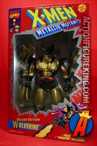 Nice MIB sample of this X-Men Deluxe 10-inch Metallic Wolverine figure -- a K•B Toys Exclusive.
