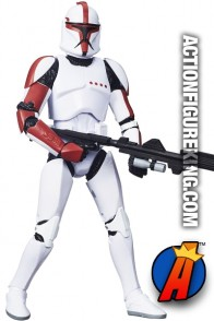 STAR WARS BLACK SERIES 6-Inch Scale CLONE TROOPER CAPTAIN Figure from HASBRO.