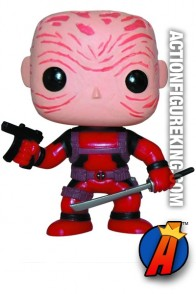 Funko Pop! Marvel Deadpool Unmasked vinyl bobblehead figure.