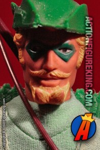 Fully articulated Mego 8-inch Green Arrow action figure with removable fabric outfit.