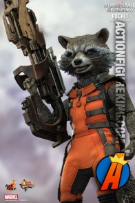 Sixth-scale Rocket Raccoon action figure from Hot Toys.