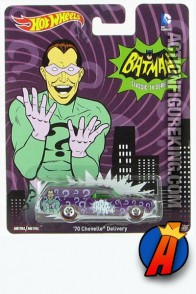 Batman Classic TV Series Riddler 1970 Cheville Delivery Vehicle from Hot Wheels.