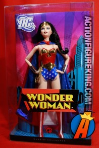 A packaged sample of this Barbie as Wonder Woman (Pink Label) from Mattel.