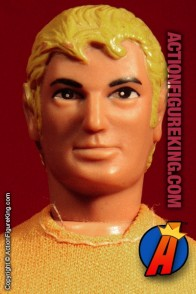 Fully articulated Mego 8-inch Aquaman action figure with removable fabric outfit.
