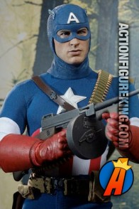 Hot Toys 1/6th Scale Captain America Star Spangled Man Toy Fair Exclusive action figure.