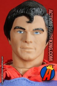 Sixth scale Superman action figure with removable fabric outfit from Mego.