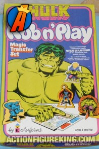 Hulk Rub And Play Set from Colorforms circa 1979.