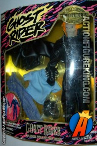 Toybiz 12-inch Ghost Rider action figure with authentic fabric outfit.
