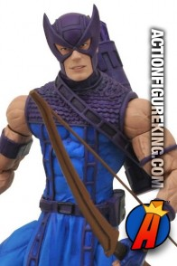 Marvel Select 7-inch Classic Hawkeye action figure by Diamond Select Toys.