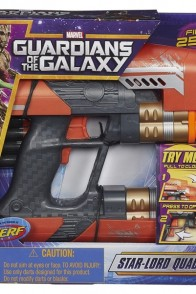 A pacakged smaple of this Guardians of the Galaxy Star-Lord Quad Blaster from Hasbro.