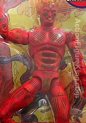 Series 2 Marvel Legends Variant Human Torch action figure.