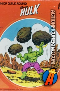 Whitman The Incredible Hulk 125-piece round jigsaw puzzle.